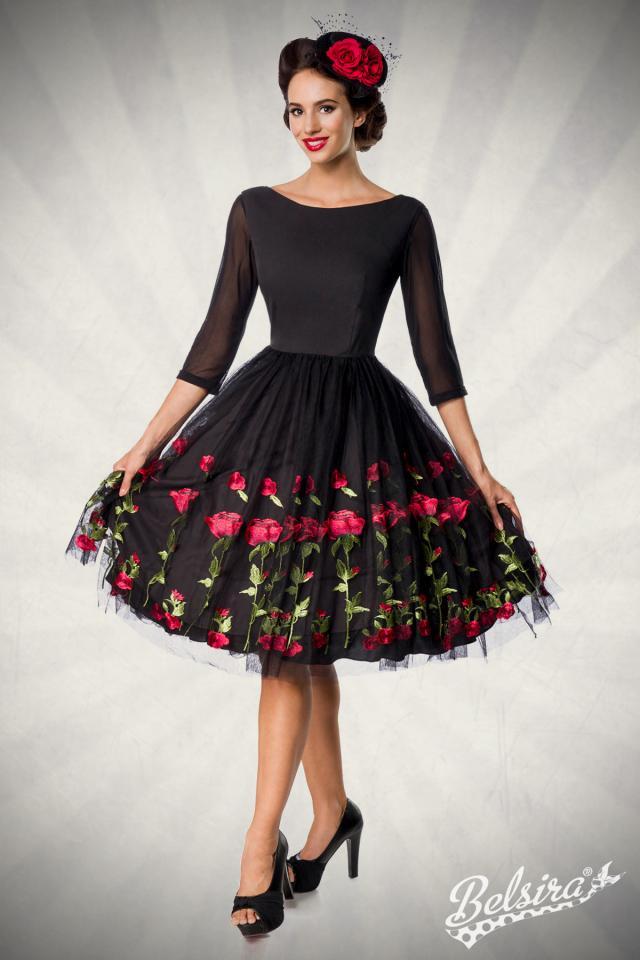 Vestido Vintage Red Roses