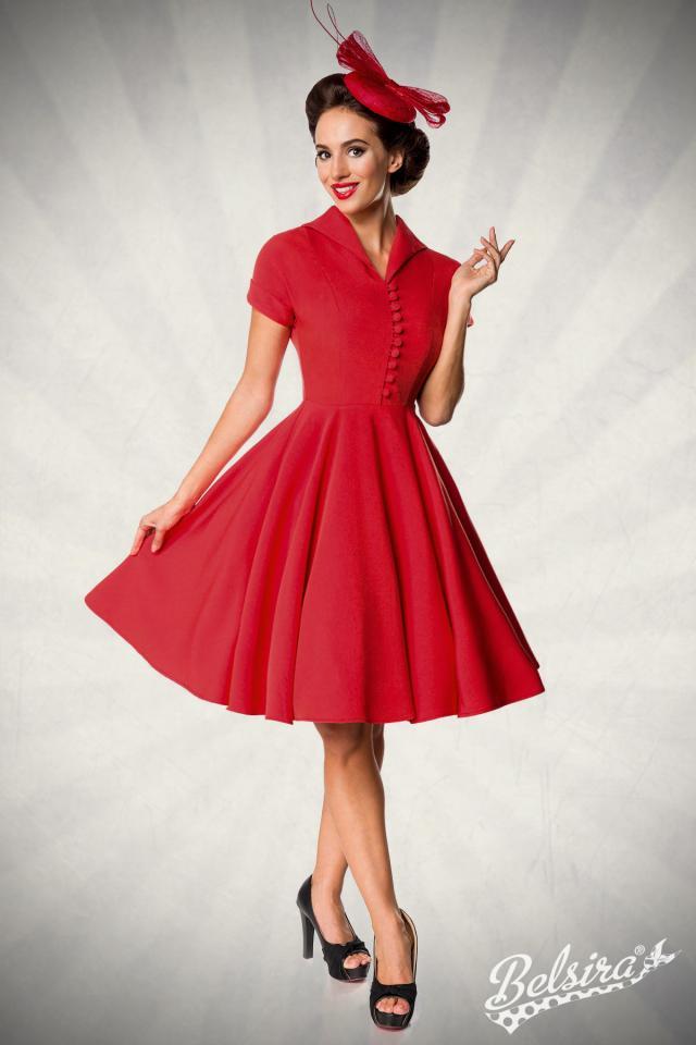Vestido Belsira Swing Rojo