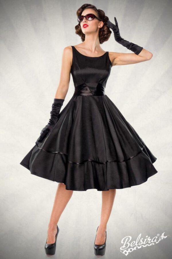 Vestido Vintage de Satén en Negro