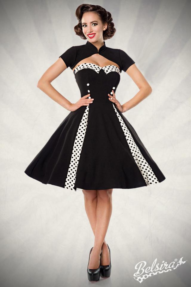 Vestido 50s Dots Negro con Bolero