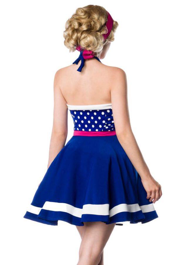 Vestido Halter Dots Azul