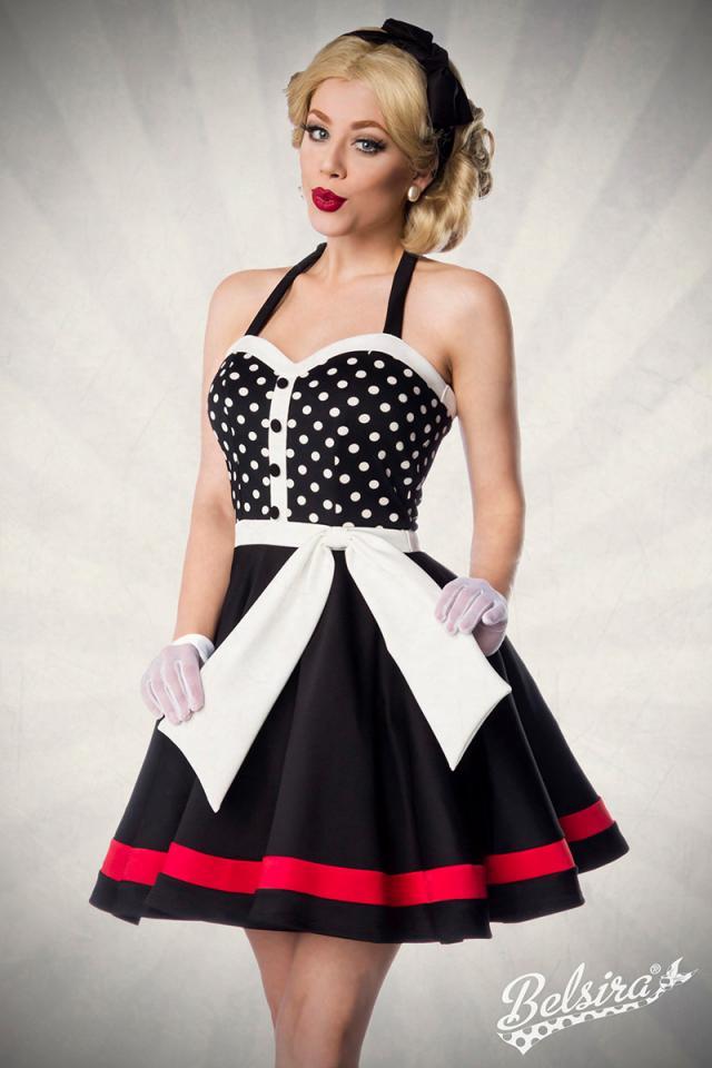 Vestido Halter Dots Negro