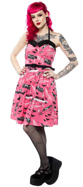 Vestido -Death Cab- Sourpuss Rosa