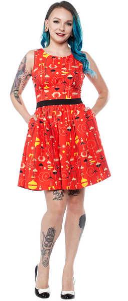 Vestido -Fifties- Sourpuss Rojo