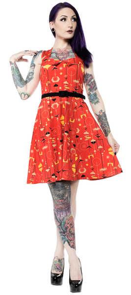 Vestido halter -Fifties- Sourpuss Rojo