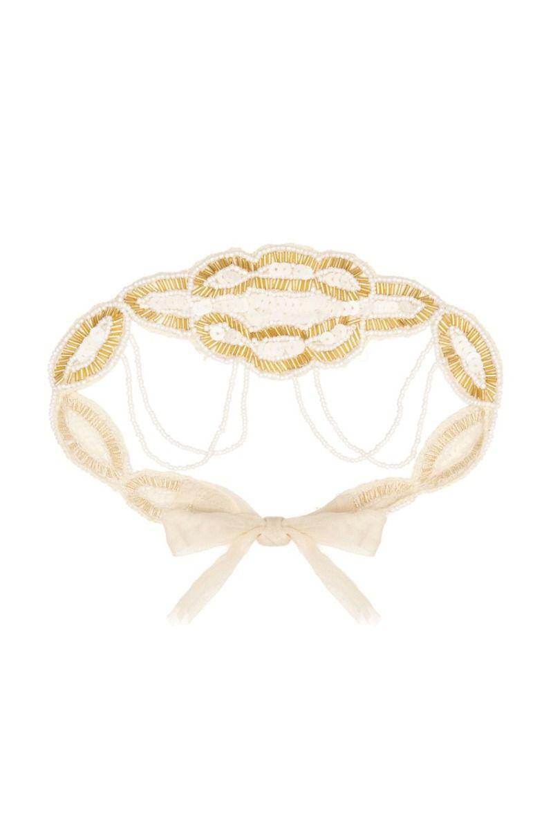 Diadema Luxury GatsbyLady Oro Blanco