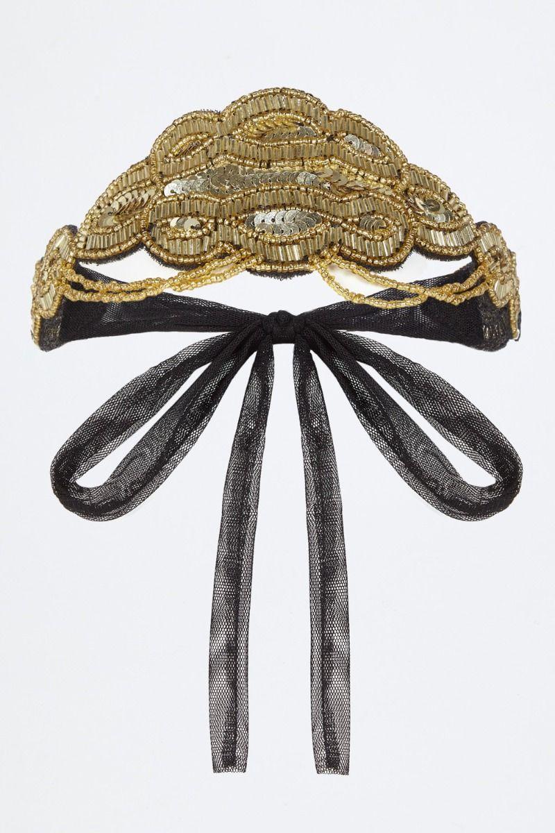 Diadema Luxury GatsbyLady Oro Negro