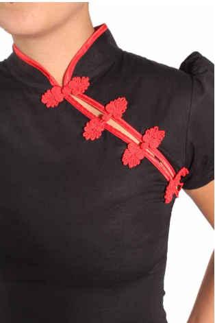Camisa Retro Asia Goinsane Negro/Rojo