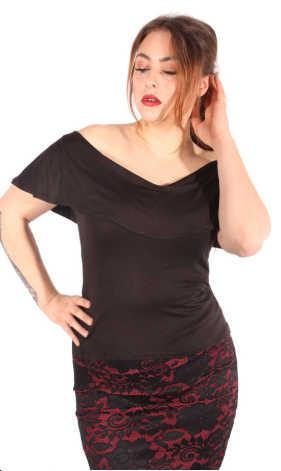 Camiseta Olivia Goinsane Negro