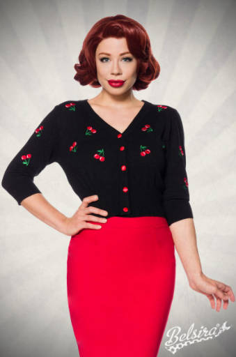 Rebeca vintage Cherries Black de Belsira