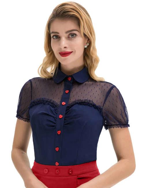 Camisa Vintage con cuello bb