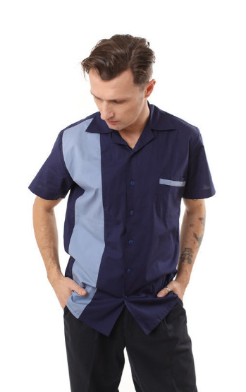 Camisa Bowling Blue