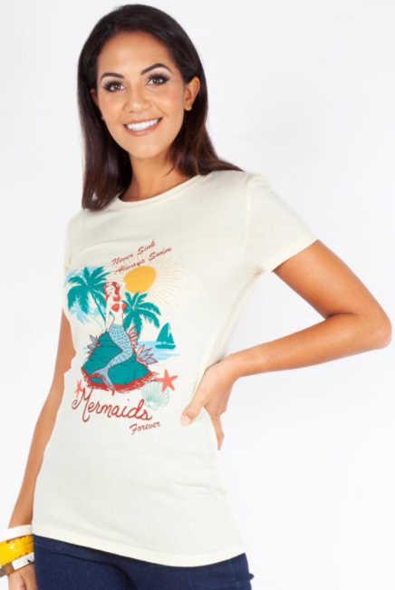 Camiseta Mermaids Beige